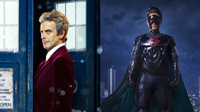 """Fans can catch the Doctor Who 2016 Christmas special in theaters on December 27 and 28. The Return of Doctor Mysterio"""" will air December 25, 2016."""