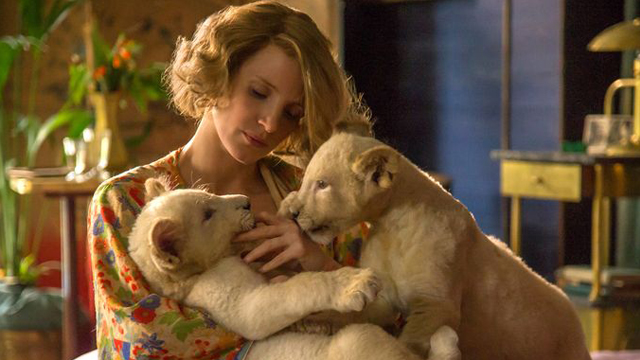 Check out five Zookeeper's Wife movie stills for a first look at the upcoming drama starring two-time Academy Award nominee Jessica Chastain.