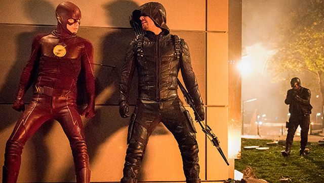 First Photos from the Four-Part CW Superhero Crossover!