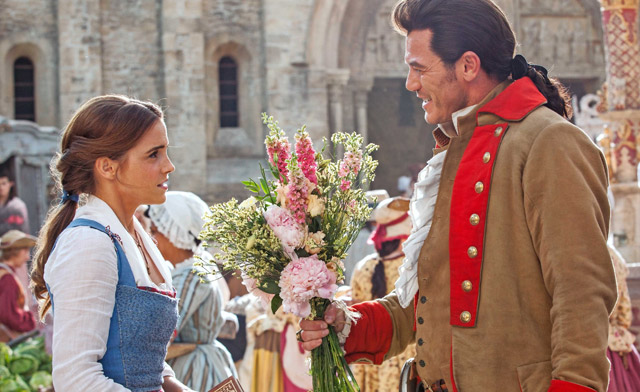 Gaston and Belle in a New Beauty and the Beast Photo