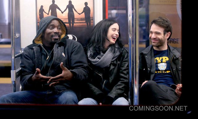 Colter, Ritter and Cox Have Some Fun on The Defenders Set