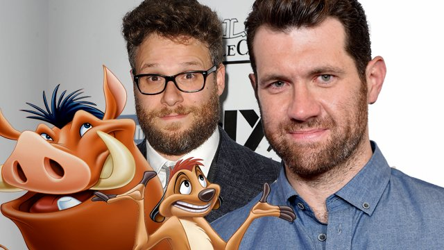 Seth Rogen and Billy Eichner are the live action Timon and Pumbaa! Timon and Pumbaa will appear in the live action Lion King movie.
