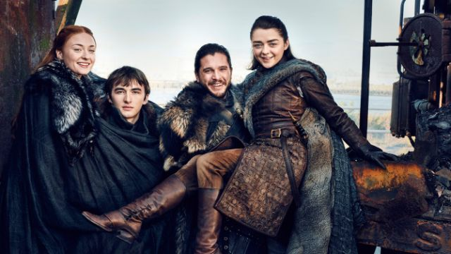 The Starks are Reunited on EW's Game of Thrones Cover!