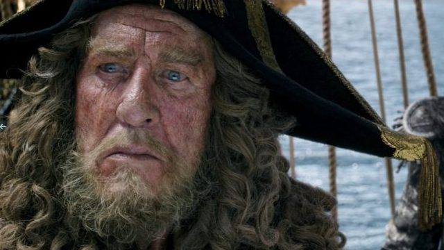 Geoffrey Rush is one of the Pirates of the Caribbean characters that has appeared in every film.