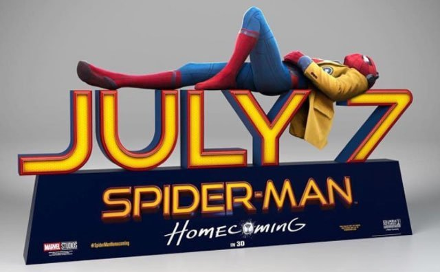 Spider-Man Standee Revealed by Tom Holland
