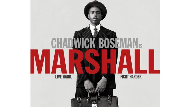 Check out the new Marshall poster featuring Chadwick Boseman. The Marshall poster teases the new biopic.