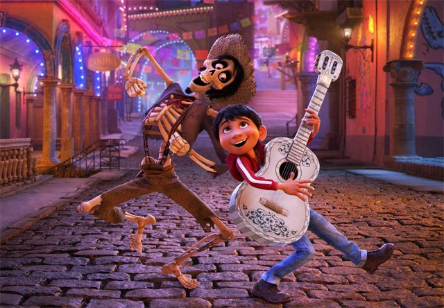 New Coco Image With Miguel & Hector From the Pixar Film