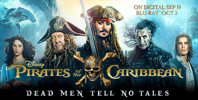 Pirates of the Caribbean Digital HD, Ultra 4K and Blu-ray Release Announced