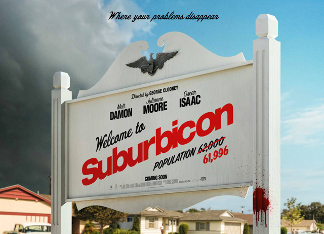 Your Problems Disappear in the New Suburbicon Poster
