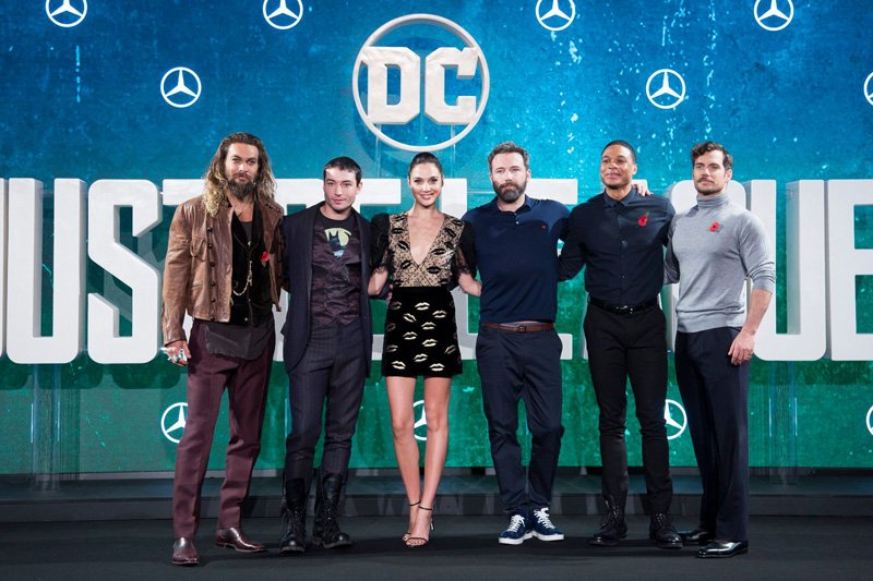 Check out what the stars have to say in new Justice League press conference videos