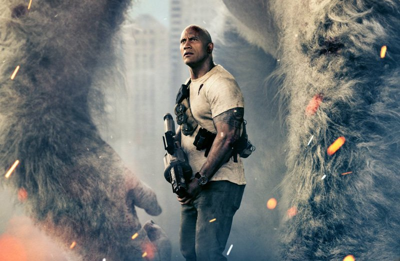 Dwayne Johnson just tweeted out a brand new scene from Rampage