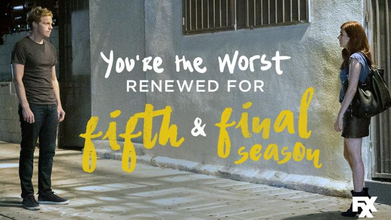 You're the Worst Renewed for Fifth and Final Season