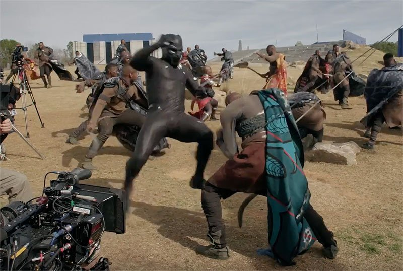 Big Action in Black Panther Behind-the-Scenes Featurette