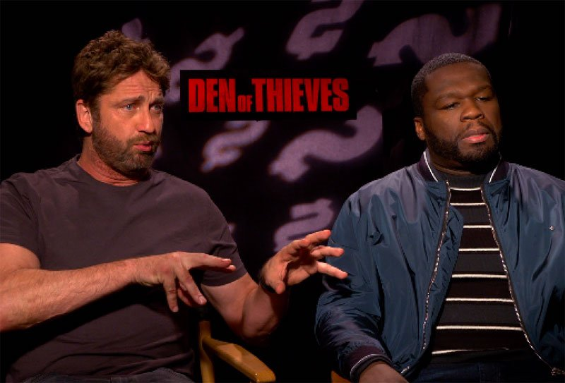 CS Video: Gerard Butler, 50 Cent and the Den of Thieves Cast