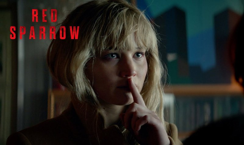 Jennifer Lawrence is Very Dangerous in the New Red Sparrow Spot