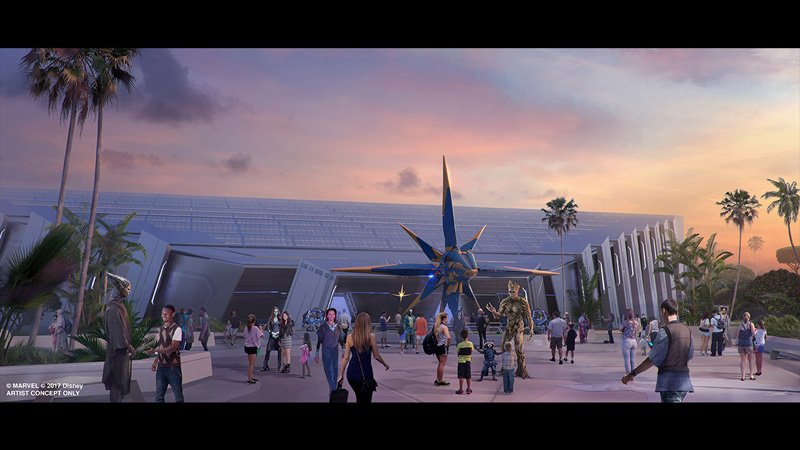 Guardians of the Galaxy Attraction at Epcot