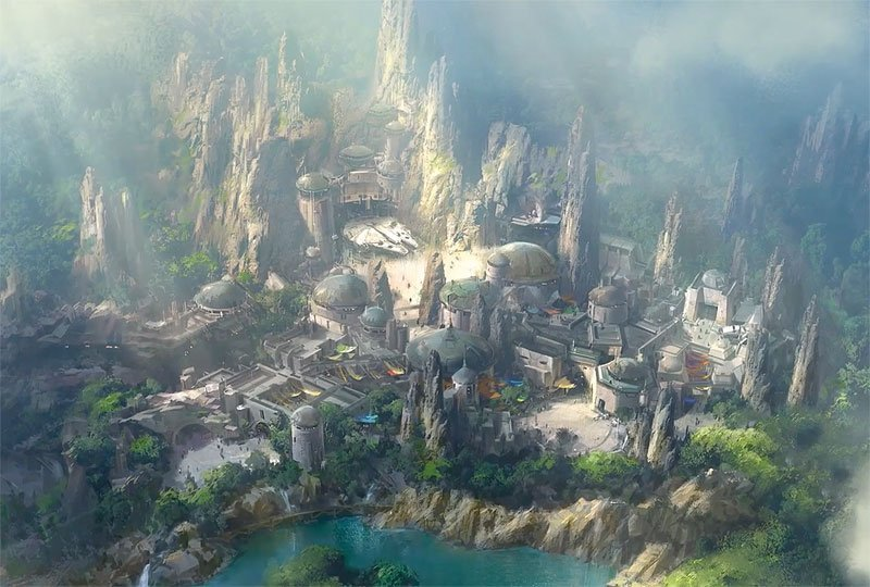First glimpse of Disney's Star Wars Land revealed in special drone footage