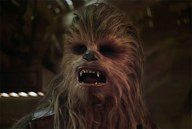 See Chewbacca in Solo: A Star Wars Story Denny's Commercial