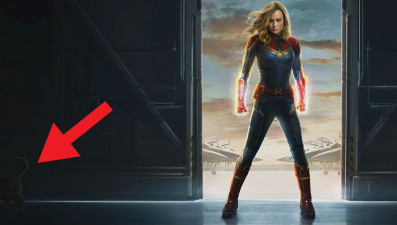 Captain Marvel Poster Features Cameo by Her Comic Book Cat