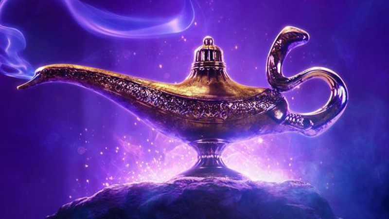 Will Smith Shares Aladdin Poster Revealing Genie's Lamp