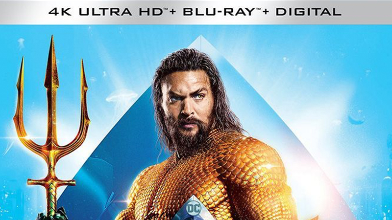 DC's Aquaman Swimming to Home Video this March!