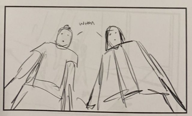 Alex Winter Shows Off a Storyboard from Bill & Ted Face the Music