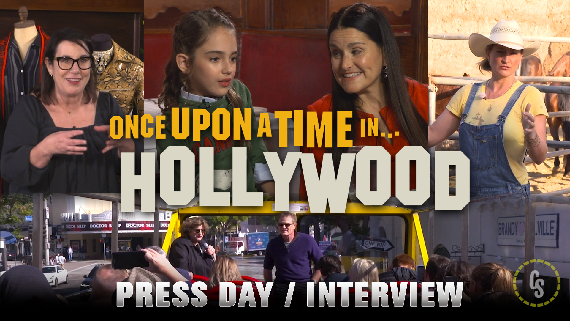 CS Video: Once Upon a Time in Hollywood Press Day Footage!