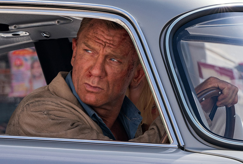 Bond is Racing to Safety in No Time to Die IMAX Poster