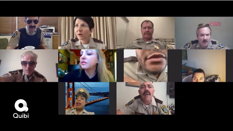 Watch the Reno 911! Cast in a Zoom Morning Briefing!