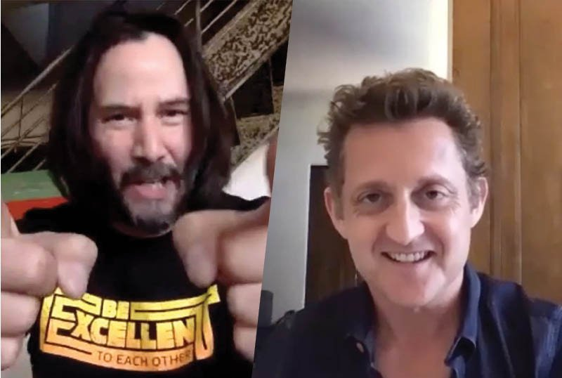Bill & Ted's Reeves & Winter Joined San Dimas High's 2020 Virtual Commencement