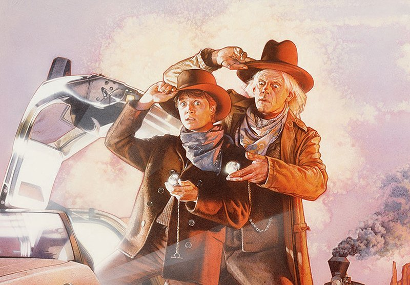 Back to the Future III Poster Prints Available From Bottleneck Gallery