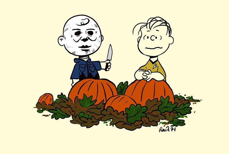 Charlie Brown Gets Scary in New Halloween Raid71 Prints
