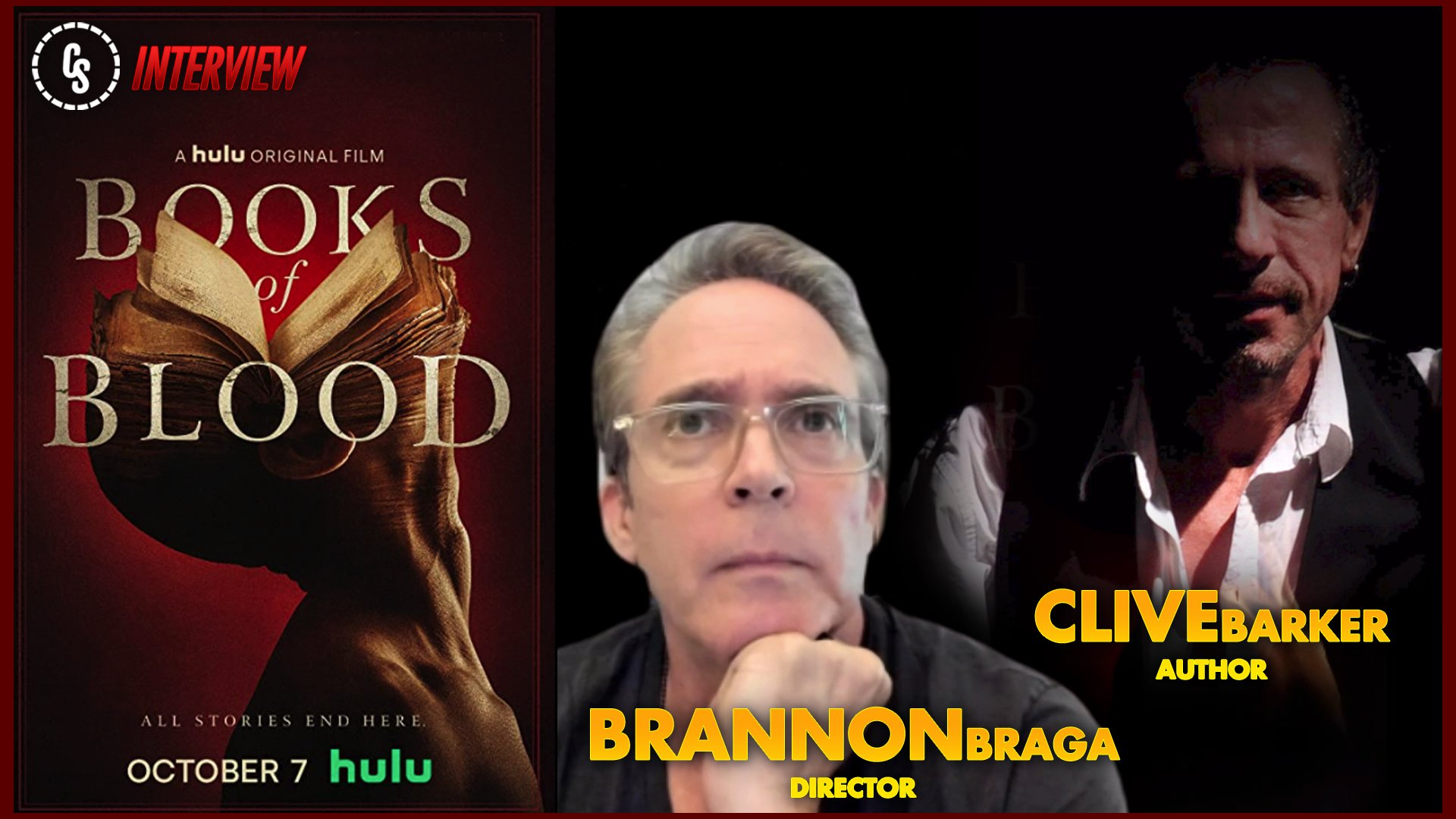 CS Video: Books of Blood Interview With Brannon Braga & Clive Barker