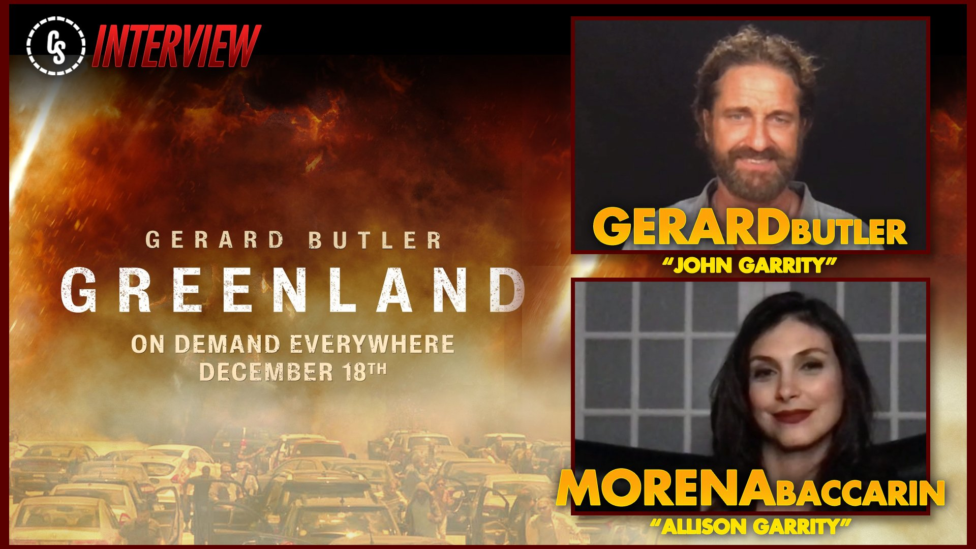 CS Video: Greenland Interview With Stars Gerard Butler & Morena Baccarin