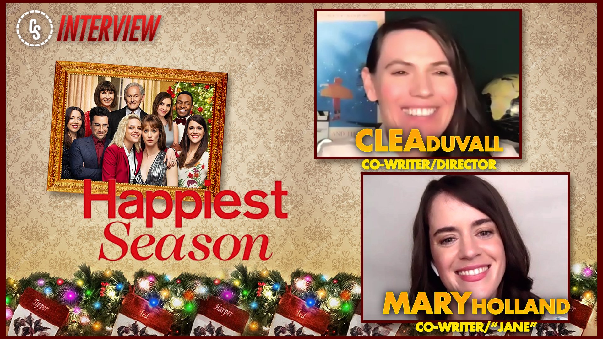 CS Video: Happiest Season Interview With Clea DuVall & Mary Holland!