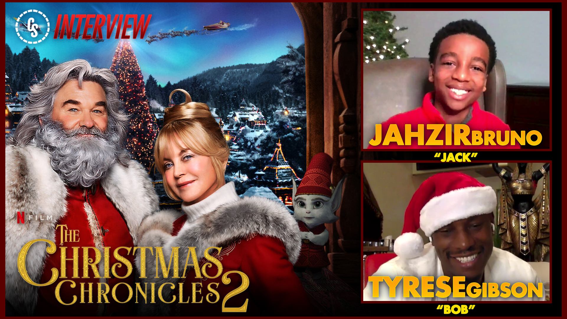 CS Video: The Christmas Chronicles Interview With Gibson & Bruno