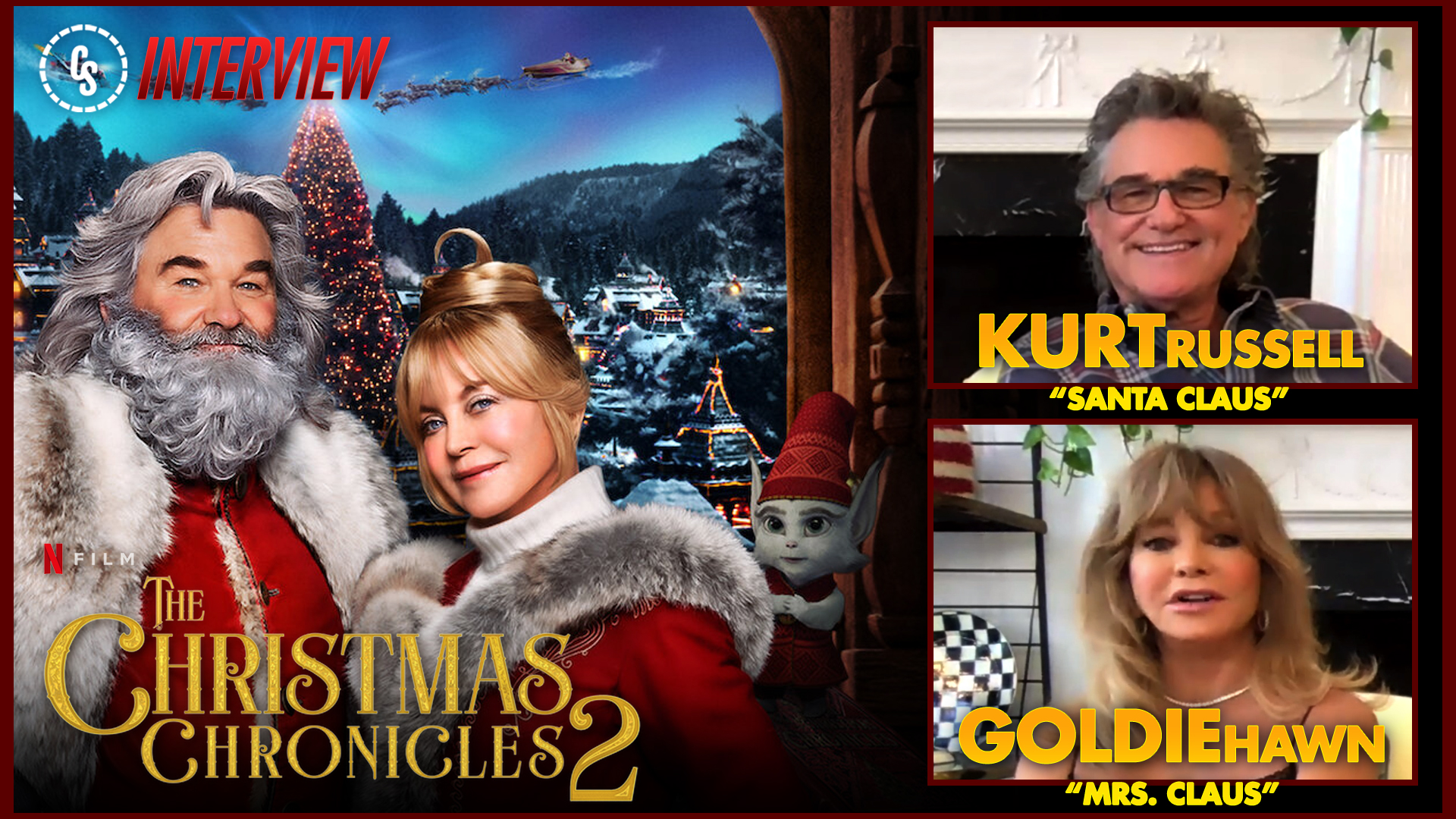 CS Video: The Christmas Chronicles: Part Two Interview With Russell & Hawn