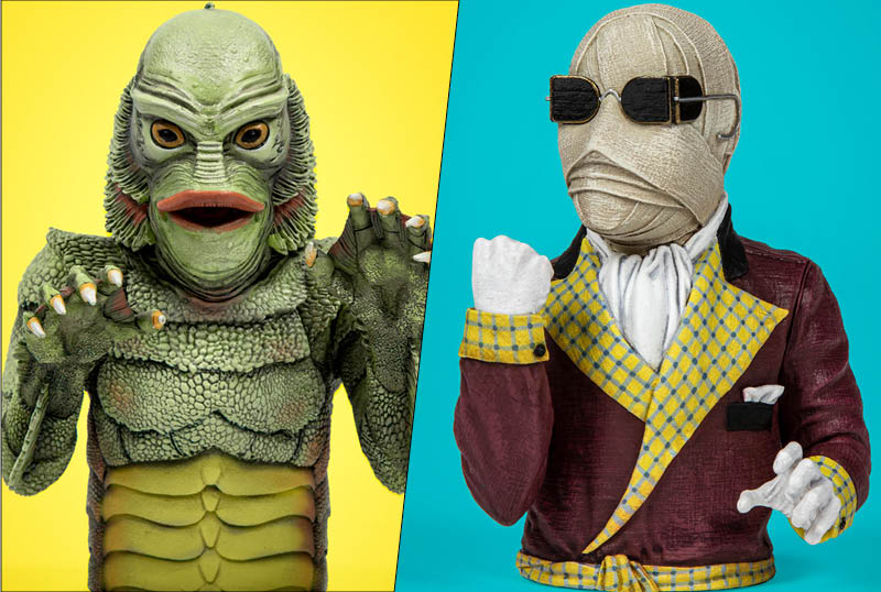 Waxwork Unveils The Creature & Invisible Man Spinature Figures!