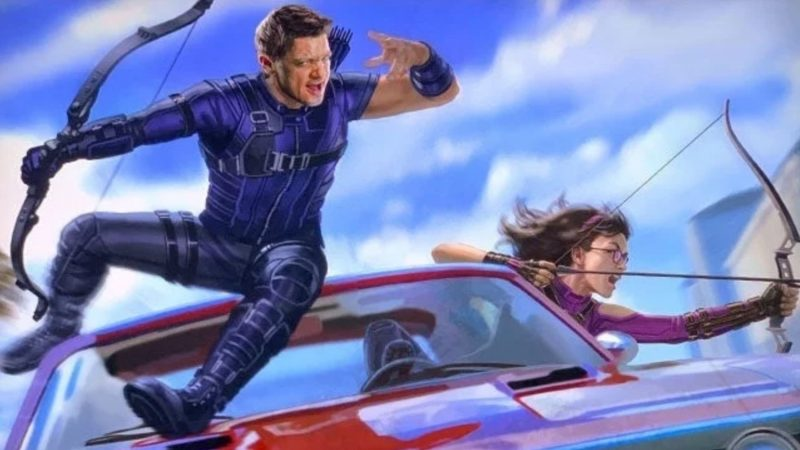 Hawkeye set video shows off Jeremy Renner and Hailee Steinfeld