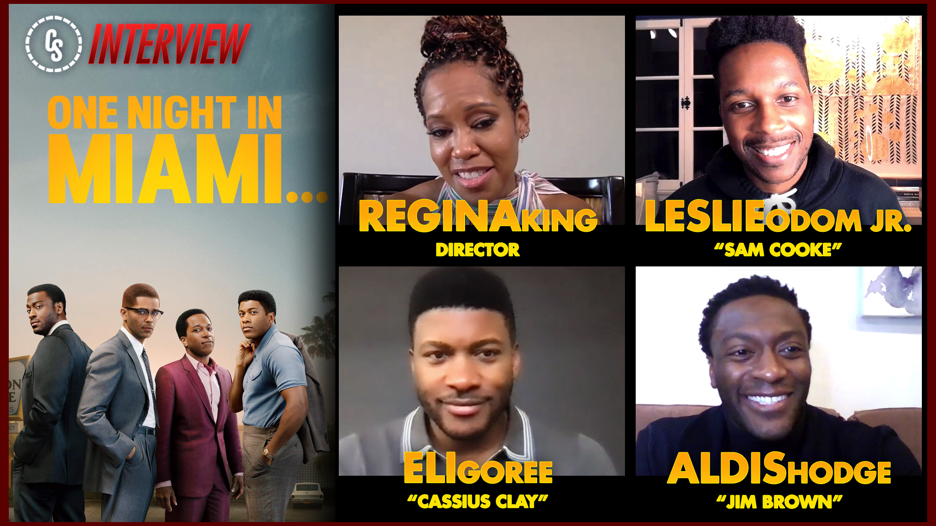 CS Video: One Night in Miami Interviews With Director & Stars!