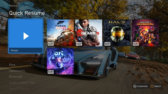 Xbox Series X Quick-Resume-Pinned-to-Home