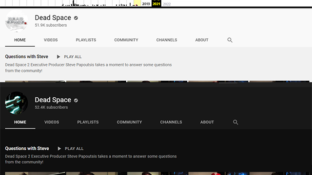 Dead Space YouTube Channel Updates Profile Pic After 8 Years of Inactivity