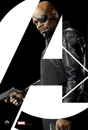 Nicky Fury Avengers character poster