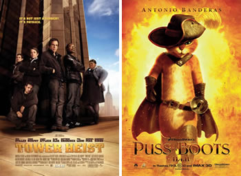 Tower Heist Puss in Boots Friday Box-Office