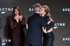 """Eon Productions, Metro-Goldwyn-Mayer and Sony Pictures Entertainment announce the 24th James Bond adventure """" SPECTRE. """" Pictured: (L to R) Sam Mendes and Léa Seydoux"""