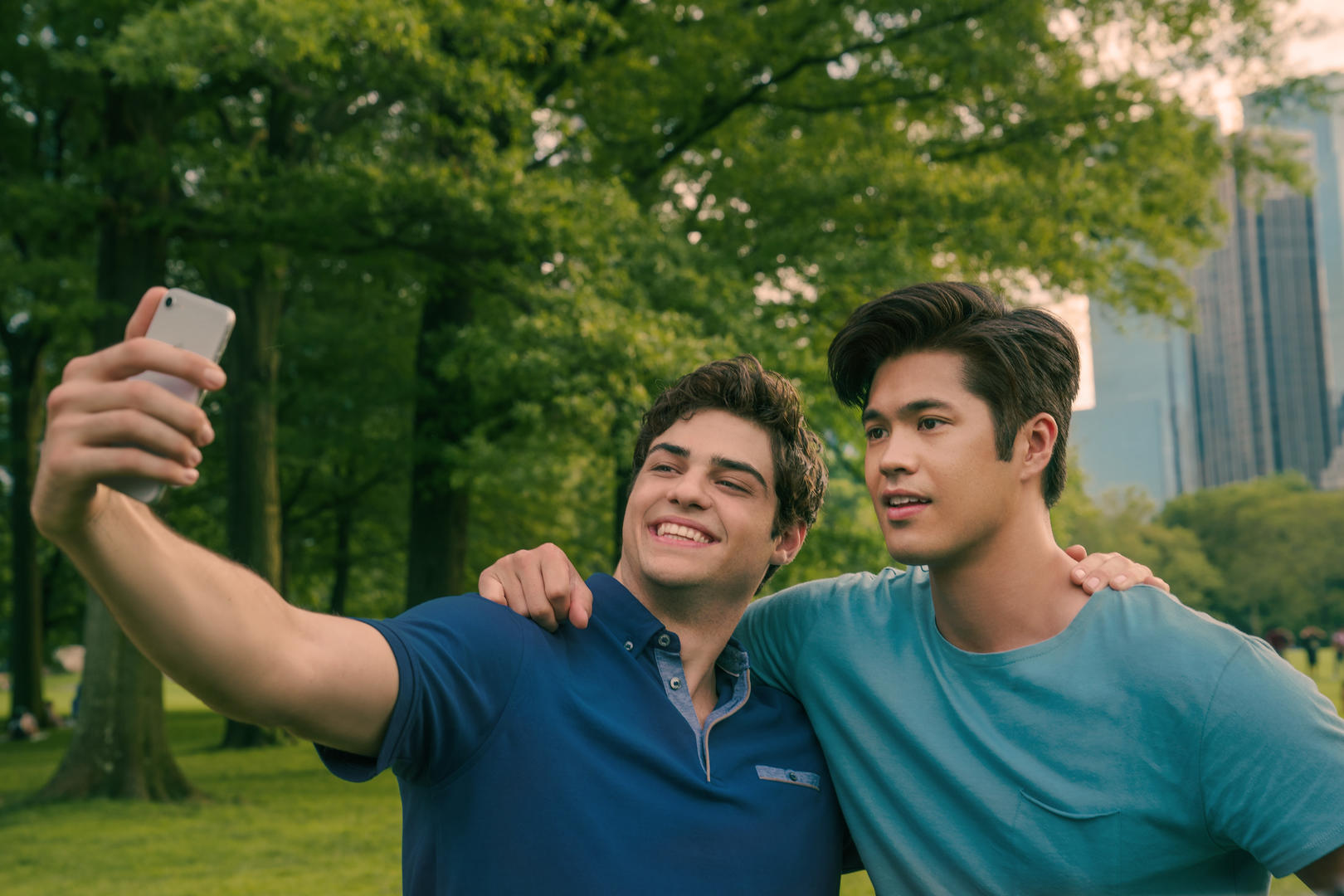 TO ALL THE BOYS IVE LOVED BEFORE 3. Noah Centineo as Peter Kavinsky, Ross Butler as Trevor, in TO ALL THE BOYS IVE LOVED BEFORE 3. Cr. Sarah Shatz / Netflix © 2020